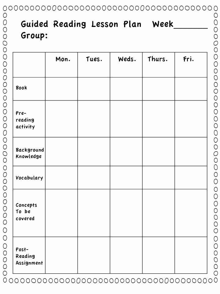 Guided Reading Template Pdf Beautiful Guided Reading Template Pdf Lovely Group Lesson Plan
