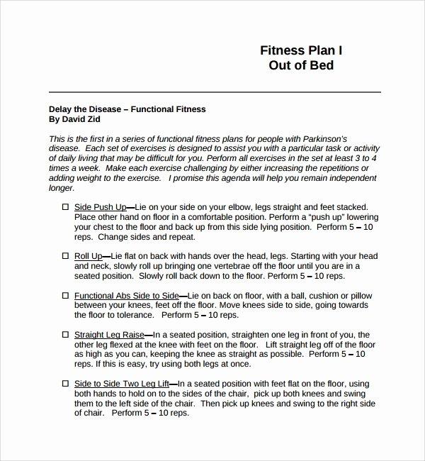 Gym Business Plan Template Fresh 10 Fitness Plan Templates