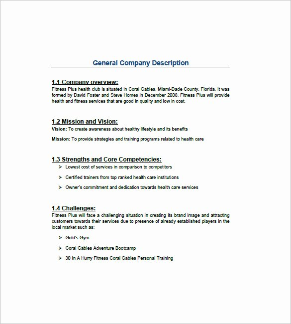 Gym Business Plan Template Lovely Gym Business Plan Template 13 Free Word Excel Pdf