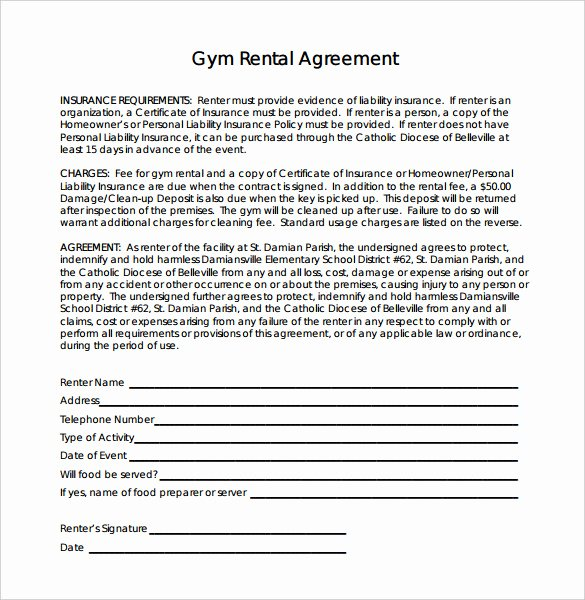 Gym Membership Agreement Template Luxury 16 Gym Contract Templates Word Docs Pages