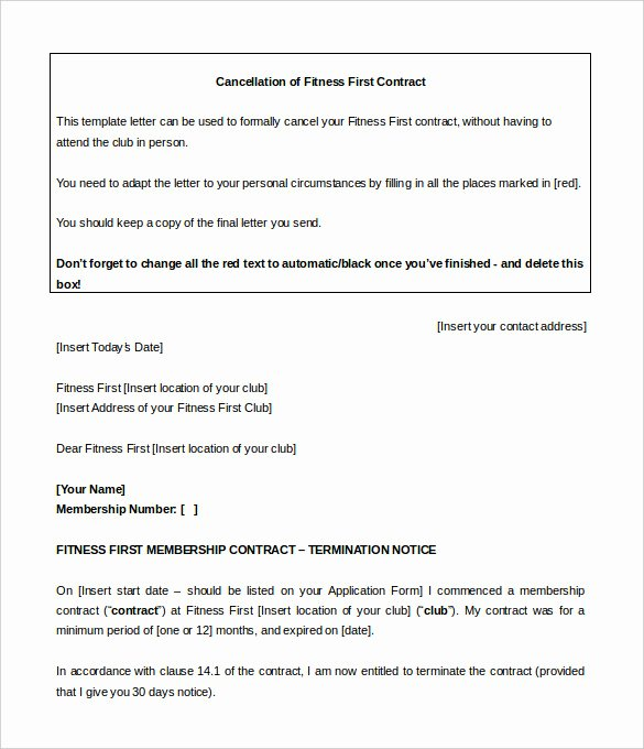 Gym Membership Agreement Template New 16 Gym Contract Templates Word Docs Pages