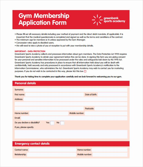 Gym Membership Contract Template Best Of 11 Gym Contract Templates to Download for Free