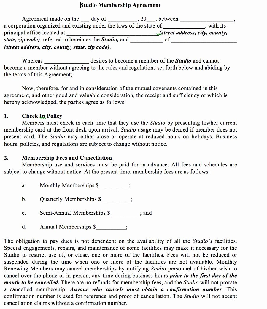 Gym Membership Contract Template Lovely 5 Gym Membership Contract Template Itniy