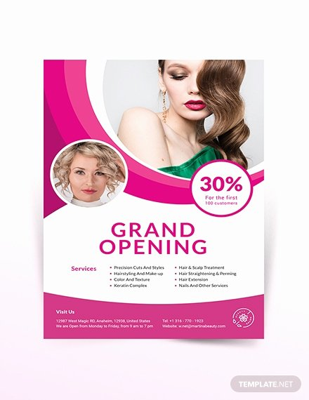 Hair Flyers Free Template Awesome Free Beauty Salon Flyer Template Intemplate Download 681