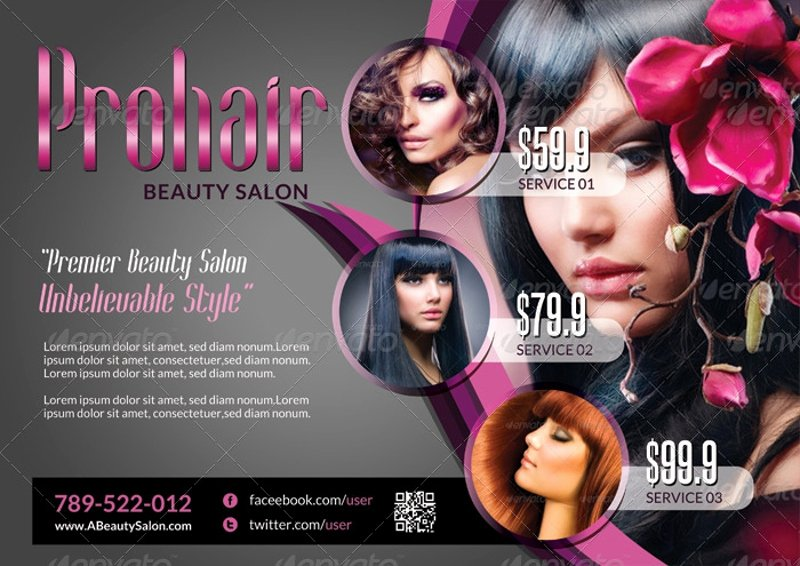 Hair Flyers Free Template Best Of 15 Beauty Salon Flyer Designs & Examples Psd Ai
