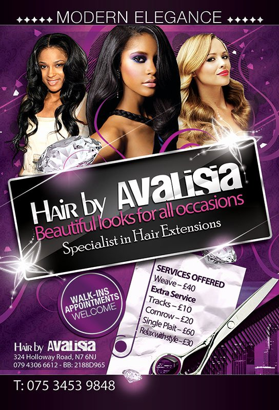 Hair Flyers Free Template Best Of Hair by Avalisa Flyer Design – Smartunit