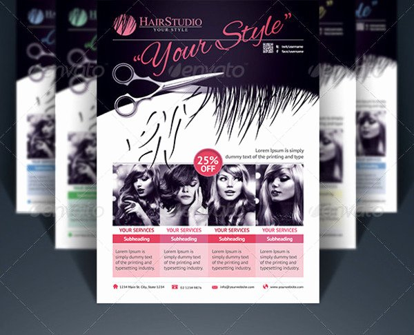 Hair Flyers Free Template Fresh 83 Beauty Salon Flyer Templates Psd Eps Ai