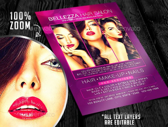 16 cool flyer templates for hair