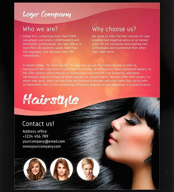 Hair Flyers Free Template Inspirational 25 Hair Salon Flyer Templates Free & Premium Download