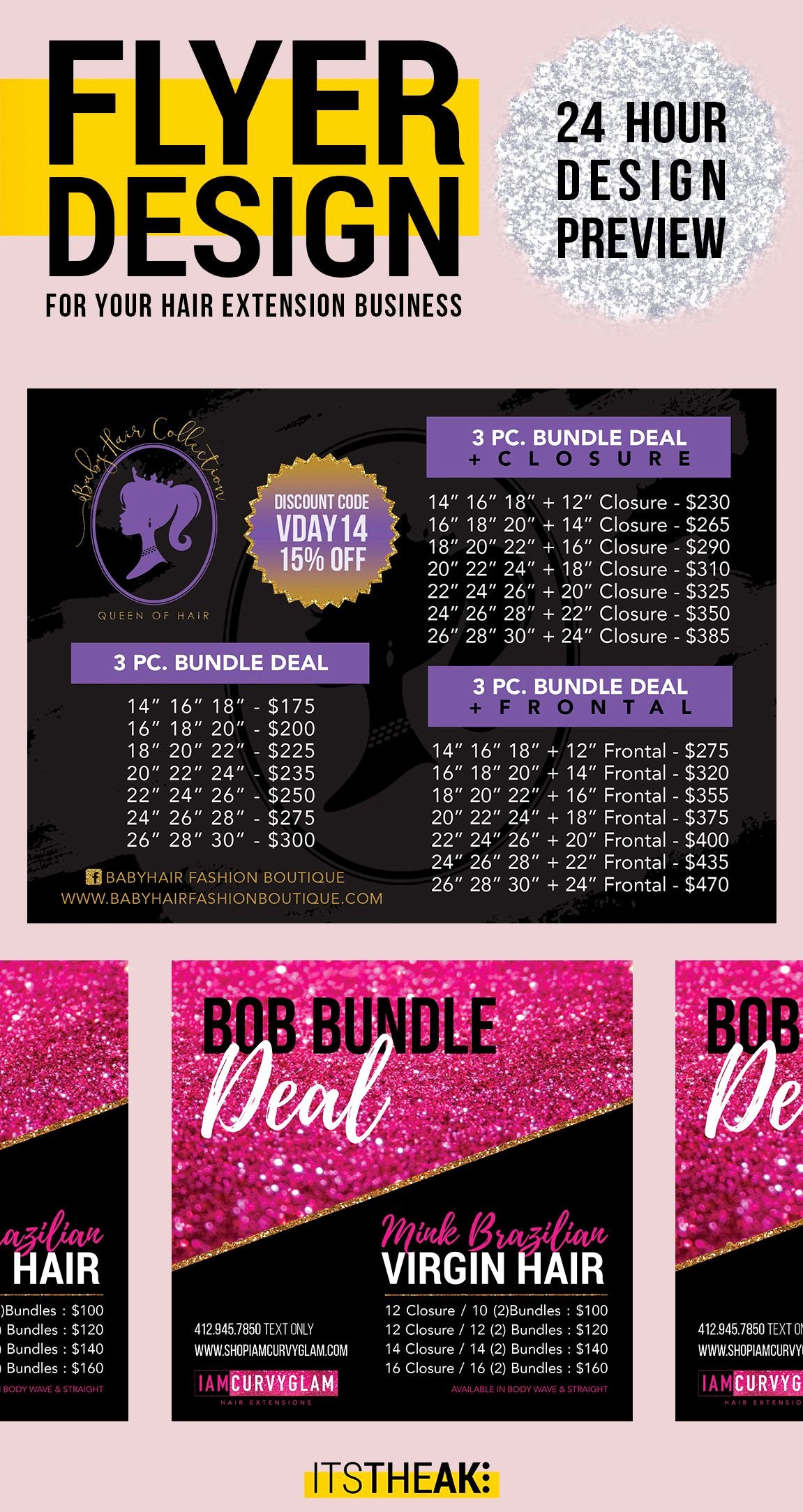 Hair Flyers Free Template Luxury Premade Pricing Flyer – Customized for You – Hair