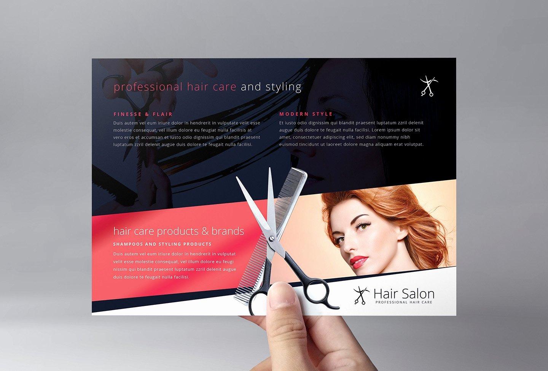 Hair Flyers Free Template Unique Hair Salon Flyer Template Flyer Templates Creative Market