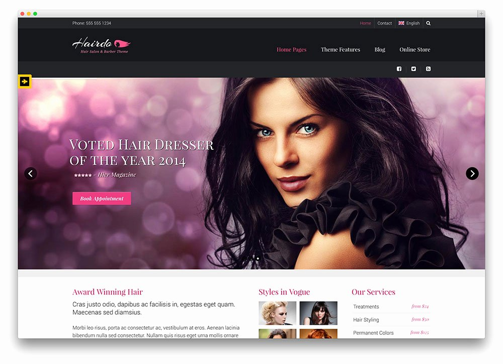 Hair Salon Web Template Best Of Hair Styling Website Templates Popteenus
