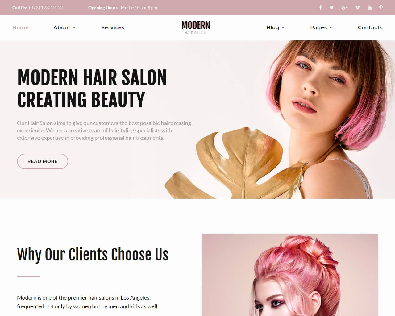 Hair Salon Web Template Lovely 20 Best Beauty Salon and Spa Website Templates 2018