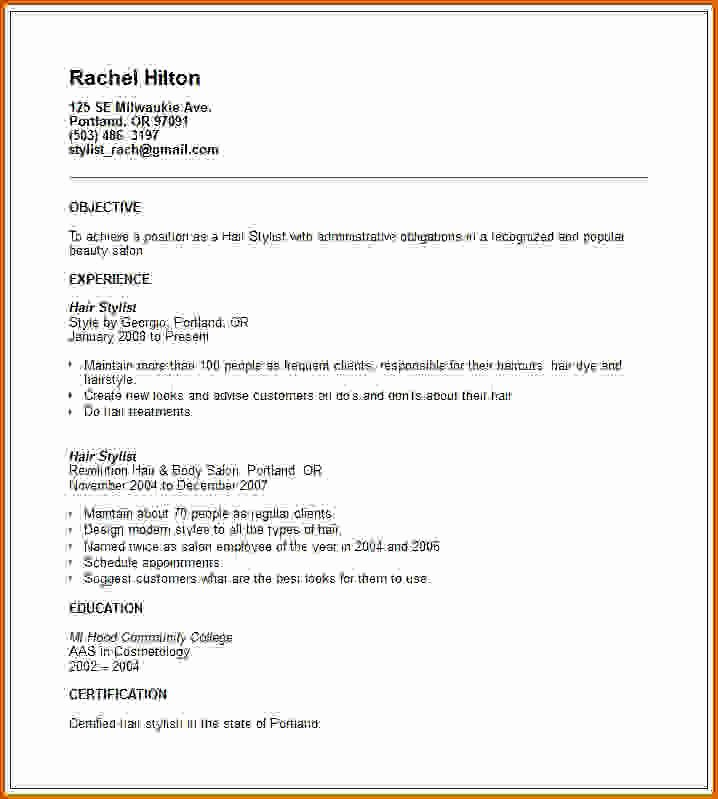 Hair Stylist Resume Template Awesome 10 How to Write Cosmetology Resume
