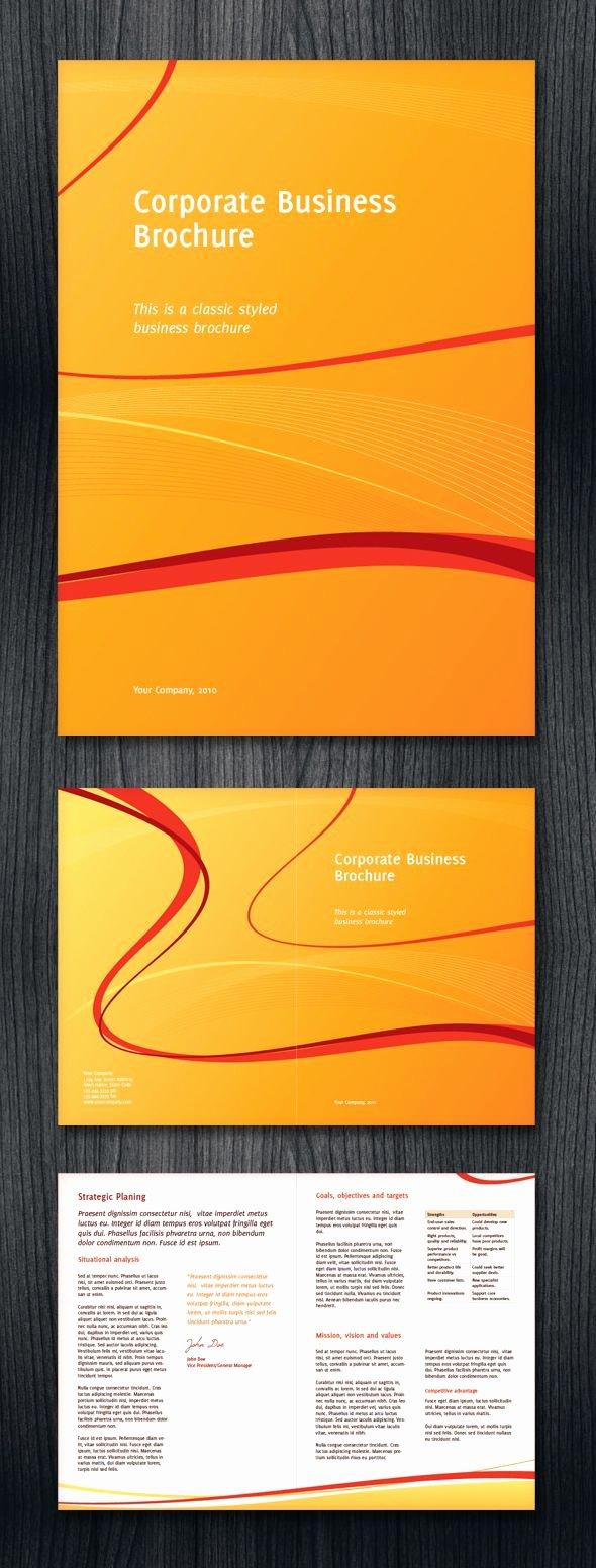 Half Fold Brochure Template Best Of Half Fold Corporate Business Brochure