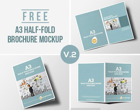 Half Fold Brochure Template Elegant 75 Free Brochure Mockup Templates for Your Designs