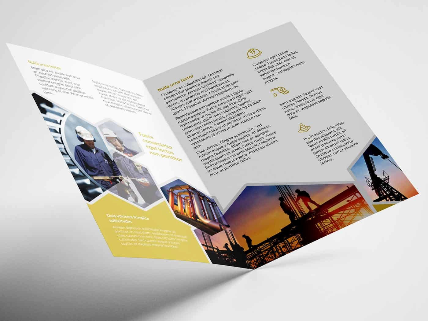 Half Fold Brochure Template Elegant Half Fold Oil and Gas Brochure Template On Vectogravic Design