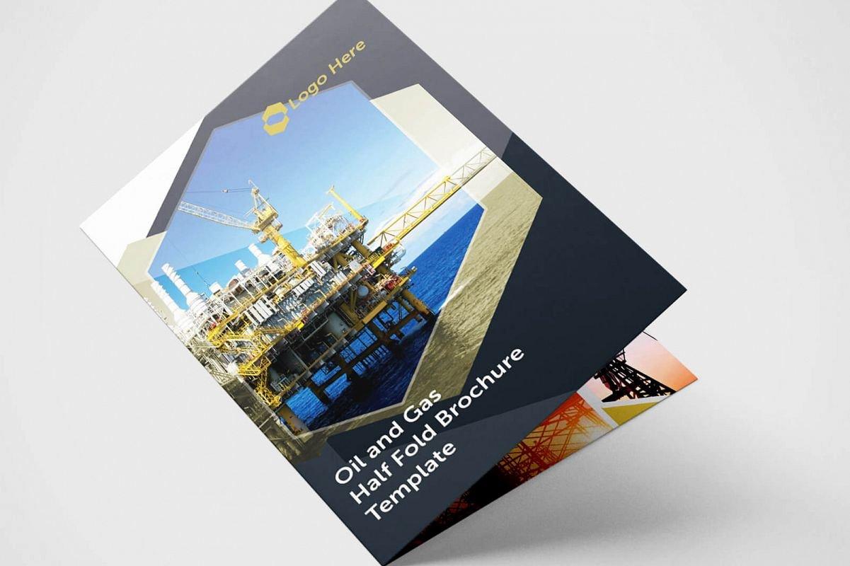 Half Fold Brochure Template Fresh Half Fold Oil and Gas Brochure Template