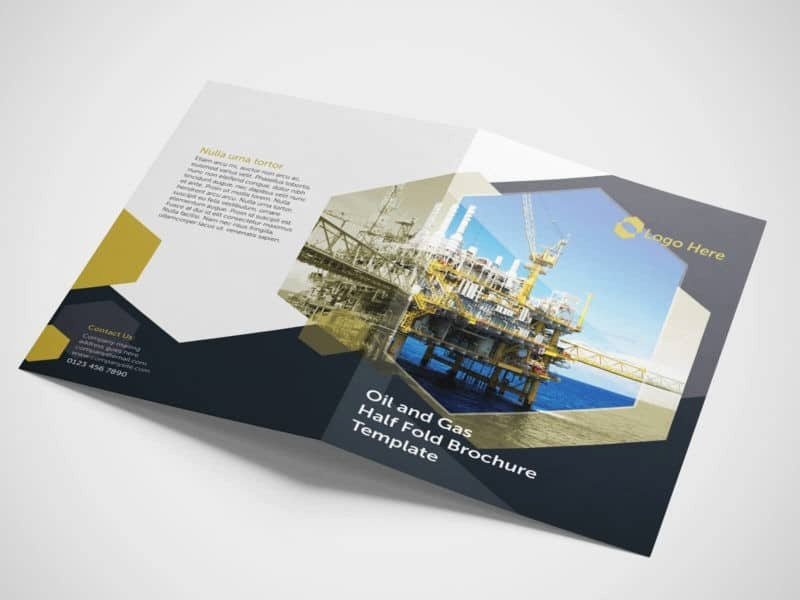 Half Fold Brochure Template Fresh Half Fold Oil and Gas Brochure Template On Vectogravic