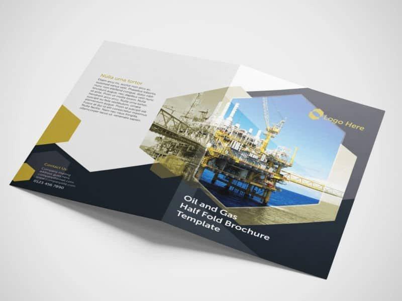 Half Fold Brochure Template Fresh Half Fold Oil and Gas Brochure Template On Vectogravic