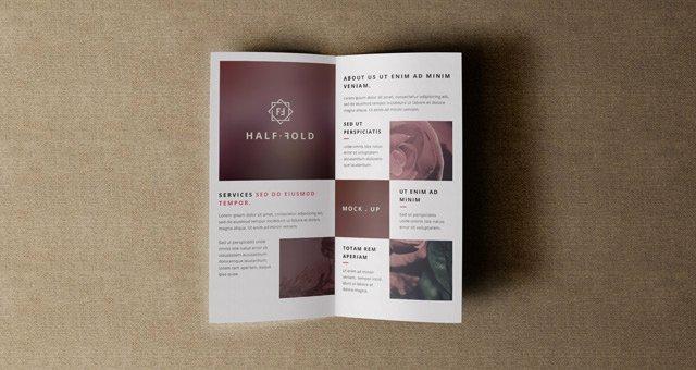 Half Fold Brochure Template Lovely Psd Bi Fold Mockup Template Vol4
