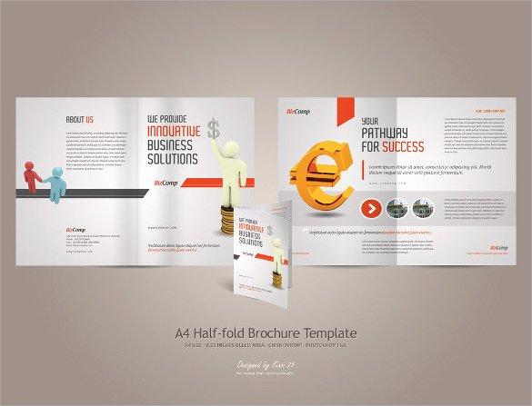 Half Fold Brochure Template Luxury 26 Half Fold Brochures
