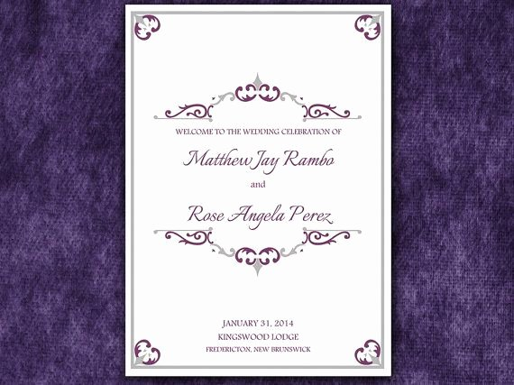 Half Fold Program Template Beautiful Antique Chic Half Fold Wedding Program Template Microsoft