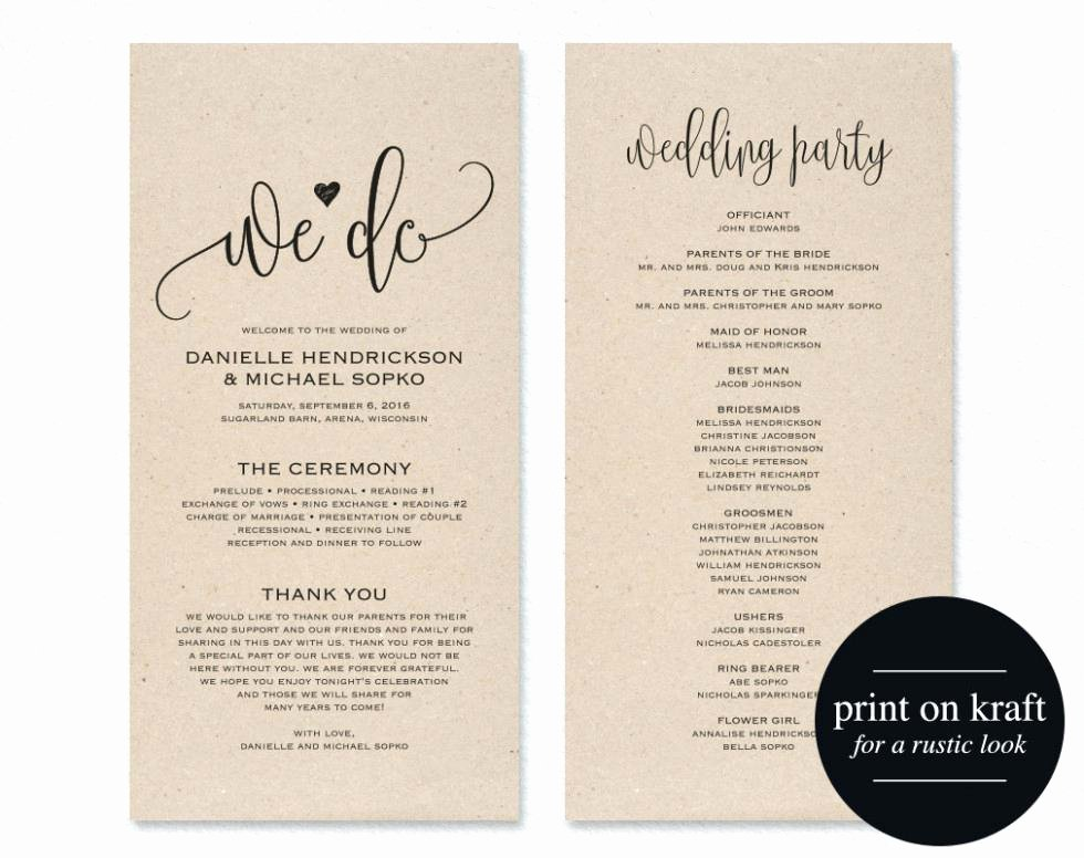 Half Fold Program Template Beautiful Half Fold Wedding Program Template – Loparfo