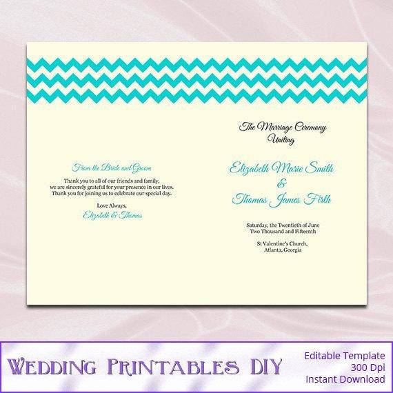 Half Fold Program Template Fresh Diy Rustic Half Fold Wedding Program by Weddingprintablesdiy