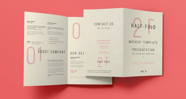 Half Fold Program Template Inspirational Psd Bi Fold Mockup Template Vol5
