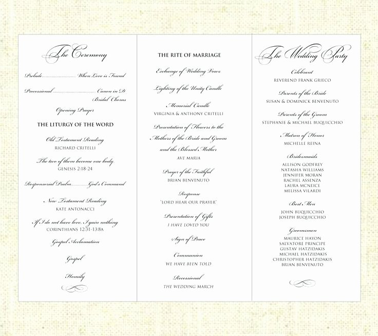 Half Fold Program Template Lovely Free Half Fold Wedding Program Templates Template