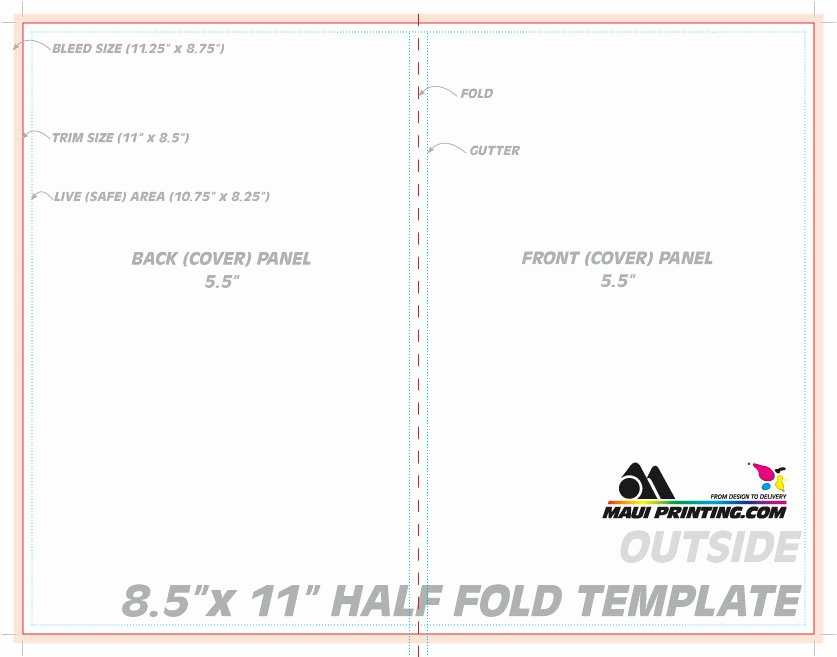 Half Fold Program Template Lovely Maui Printing Pany Inc 8 5 X 11 Half Fold Brochure