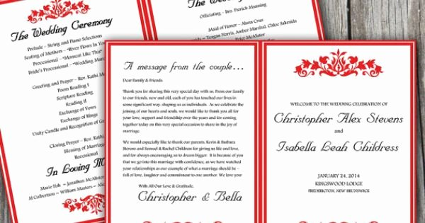 Half Fold Program Template New Printable Half Fold Wedding Program Template Microsoft