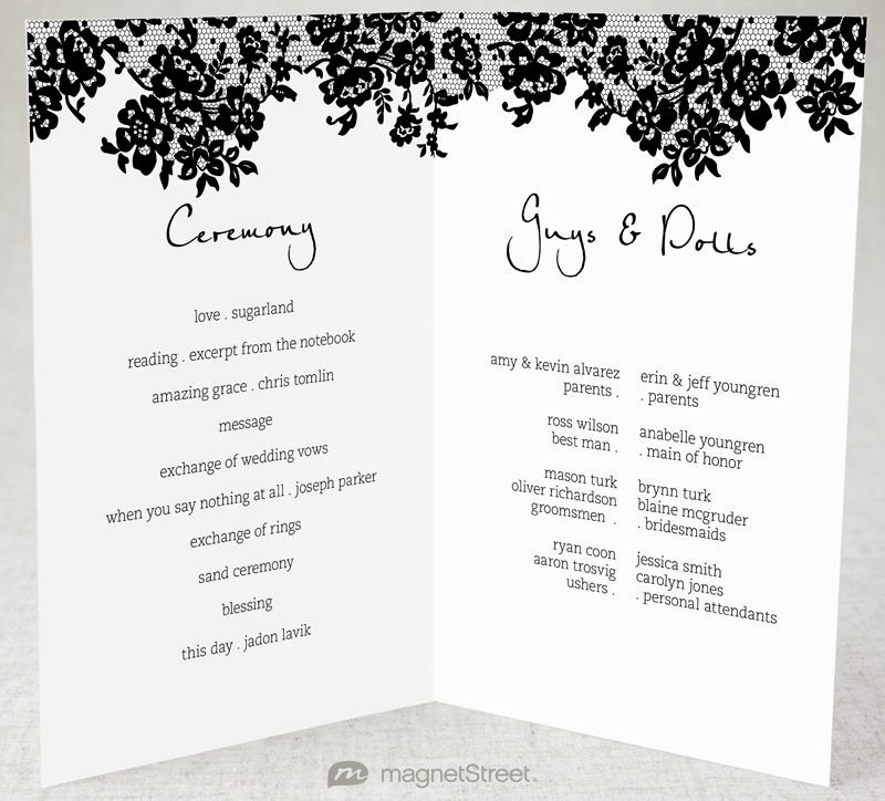 Half Fold Program Template Unique 2 Modern Wedding Program and Templates