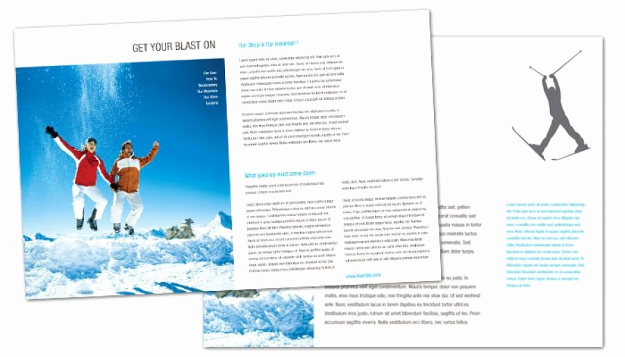 Half Page Brochure Template Beautiful Half Fold Brochure Template for Ski Shop Resort order
