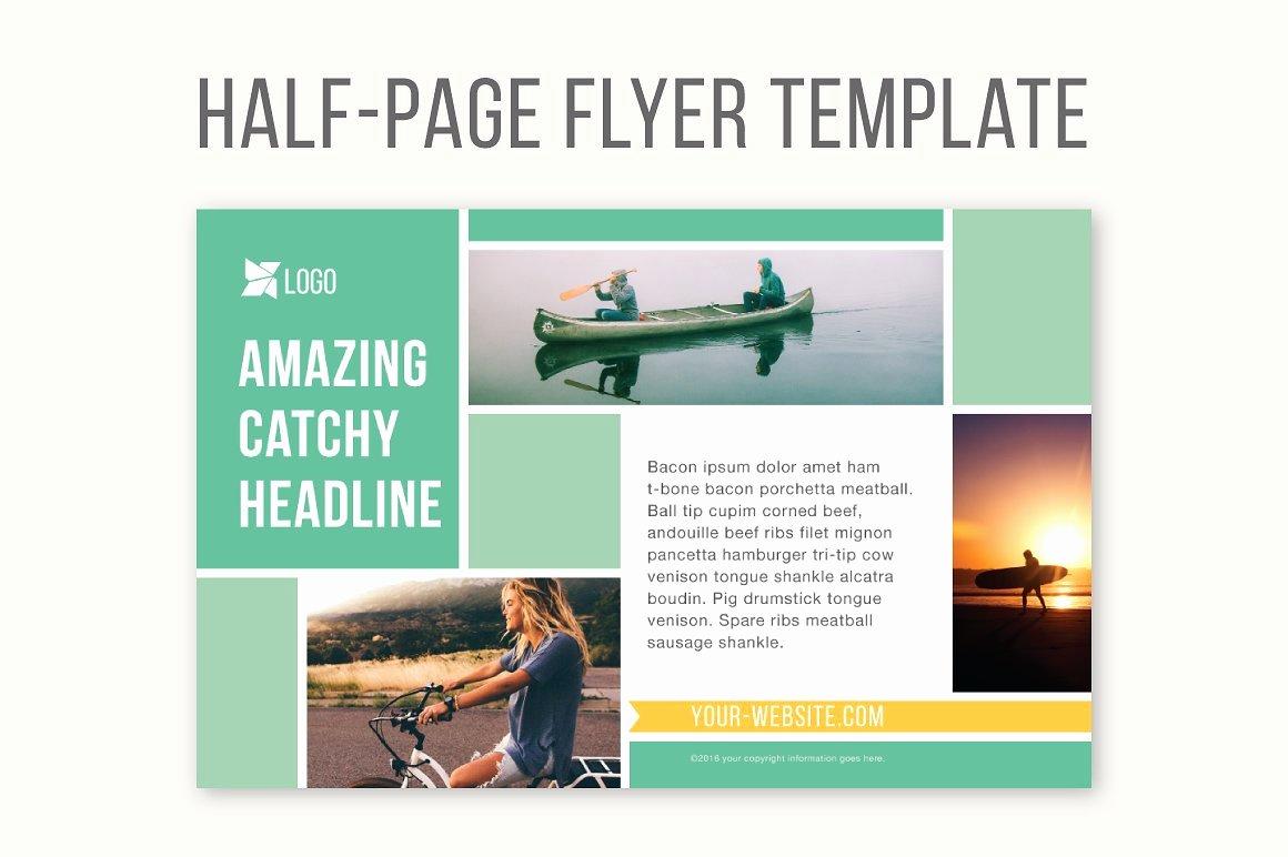 Half Page Brochure Template Elegant Half Page Flyer Template Templates Creative Market