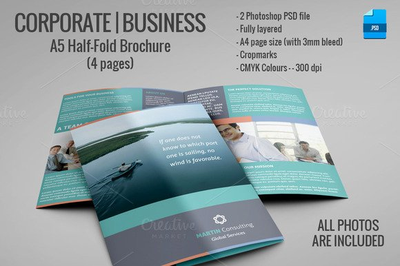 Half Page Brochure Template Inspirational A5 Half Fold Brochure 4 Pages Brochure Templates On