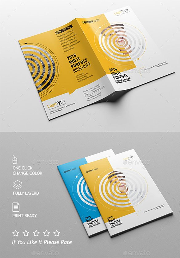 Half Page Brochure Template Lovely 36 Half Fold Brochure Templates
