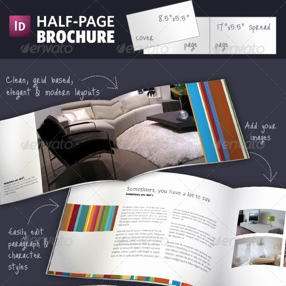 Half Page Brochure Template New 50 Business Brochure Templates Template