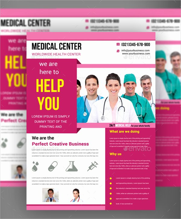 Half Page Flyer Template Awesome Free Medical Flyer Templates Yourweek 284f43eca25e