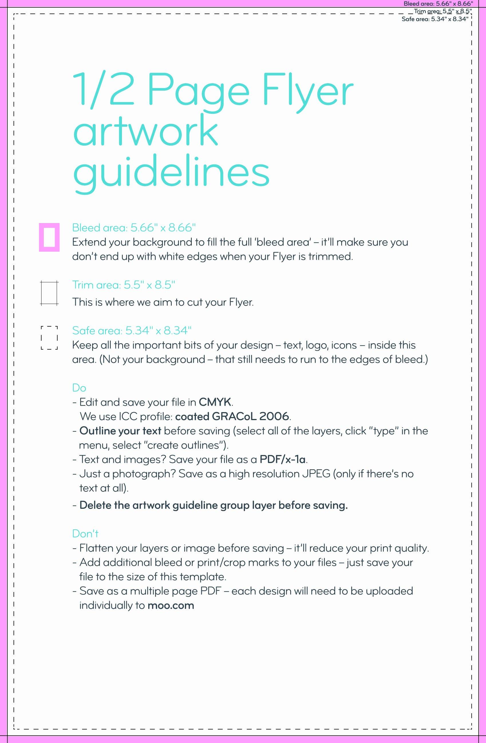 Half Page Flyer Template Best Of Flyer Outline Portablegasgrillweber