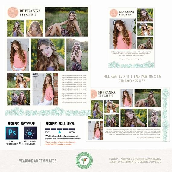 Half Page Flyer Template Fresh Yearbook Ad Templates Senior Ad Graduation Ad High School