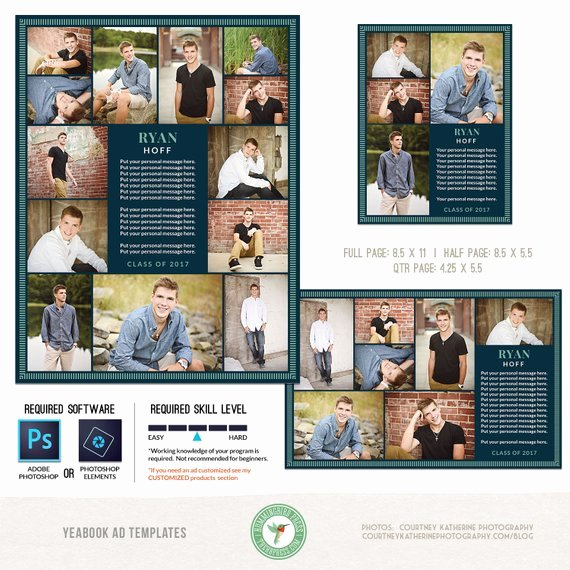 Half Page Flyer Template New Yearbook Ad Templates Senior Ad Graduation Ad High School