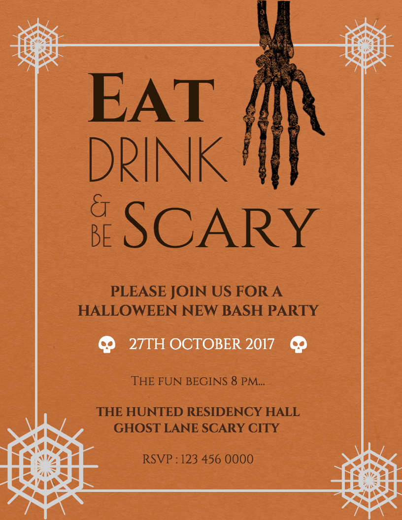 Halloween Flyer Template Free Awesome 7 Spooky Halloween Flyer Templates Venngage