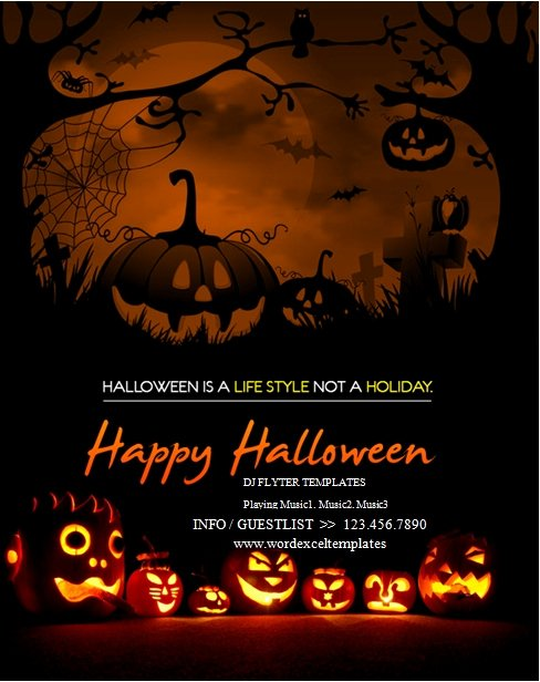 Halloween Flyer Template Free Awesome Free Halloween Flyer Templates Word Ms Word Halloween