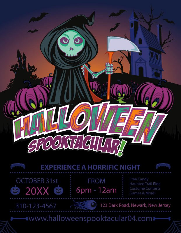 Halloween Flyer Template Free Awesome Free Halloween Templates & Vector Files