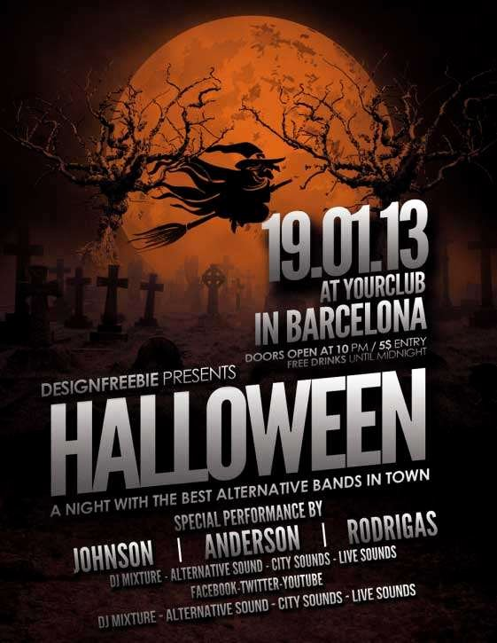 Halloween Flyer Template Free Beautiful Download Free Halloween Flyer Psd Templates for Shop