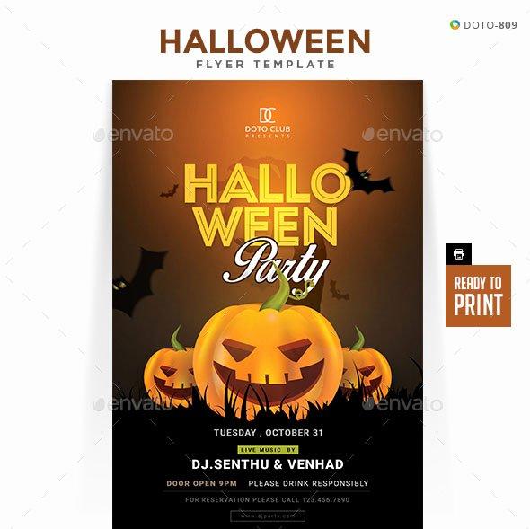 Halloween Flyer Template Free Best Of 60 Premium & Free Psd Halloween Flyer Templates