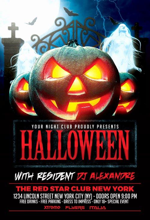 Halloween Flyer Template Free Best Of Download Halloween Nightclub Party Flyer Template for
