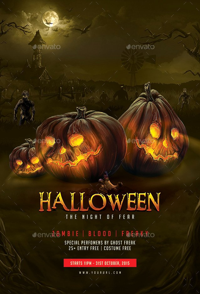 Halloween Flyer Template Free Best Of Halloween Flyer Template by Doto